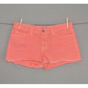 J BRAND Coral Cutoff Denim Shorts